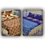 Pack of 2 Double Bedsheets + 2 Single Blankets (4FBS2)