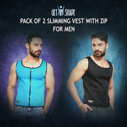 Get In Shape Pack of 2 Slimming Vest with Zip for Men (GIS22)