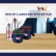 Pack of 2 Lunch Box with Bottles