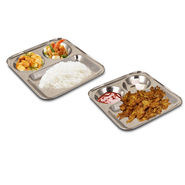 Pack of 2 Steel Snack Plates