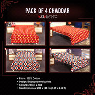 Pack of 4 Chaddar