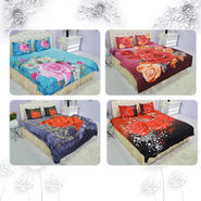 Pack of 4 Floral Rose Collection Ultra 3D Bedsheets (4DBS4)