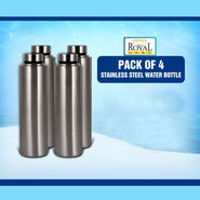 Pack of 4 Stainless Steel Bottles