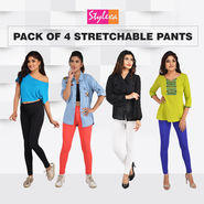 Pack of 4 Stretchable Pants
