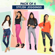 Pack of 4 Stylish Jeggings