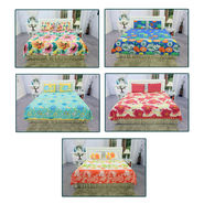 Pack of 5 Glaze Cotton Summer Home Bedsheet Set (5BS54)