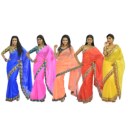 Pack of 5 Satin Sarees by Pakhi (5SS1)