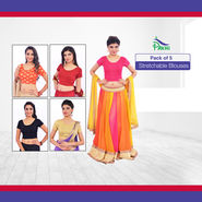 Pack of 5 Stretchable Blouses by Pakhi (5B2)
