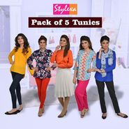 Pack of 5 Tunics by Stylexa (5T1)