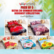 Pack of 5 Ultra 3D Summer Dreams Bedsheet Collection (5BS52)
