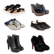 Pack of 6 Womens Footwear -ts02