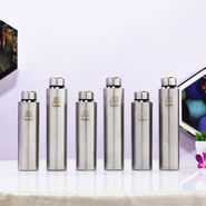 Pack of 6 Stainless Steel Water Bottles