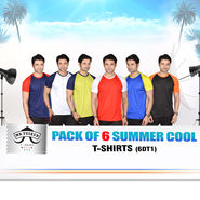 Pack of 6 Summer Cool T-Shirts for Men (6DT1)