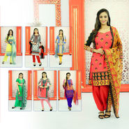 Pack of 7 Assorted Printed Dress Material by Pakhi (7PDM10)