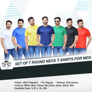 Set of 7 Round Neck T-shirts for Men by Mr. Tusker