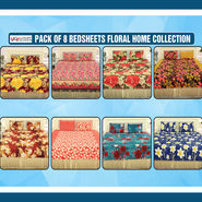 Pack of 8 Bedsheets Floral Garden Collection (8BS8)
