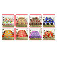 Pack of 8 Double Bedsheets + 16 Pillow Covers (8BS5)