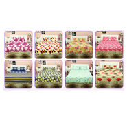 Pack of 8 Double Bedsheets + 16 Pillow Covers (8BS6)