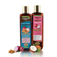 Panchvati Herbals Onion Hair Oil with Onion & Fenugreek Hair Shampoo