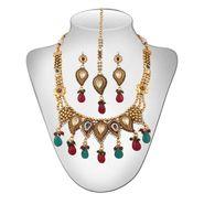 Panini Austrian Diamond Necklace Set - Multicolour _ 100