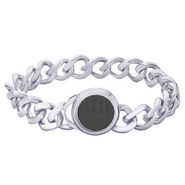 Peora Bracelet - Silver & Black - PSB758