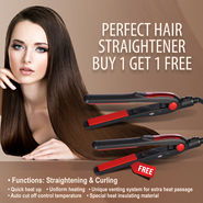 Perfect Hair Straightener - Buy 1 Get 1 Free