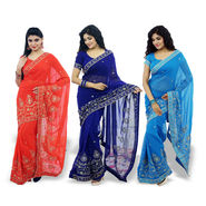 Pick Any 1 Heavy Designer Work Georgette Saree by Zuri (DES21)