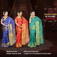 Kanjeevaram Art Silk Saree - Pick Any 1
