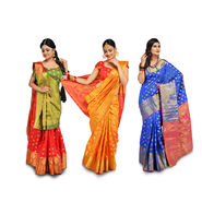 Pick Any 1 Sarva Lakshana Silk Saree by Zuri (DCS1)