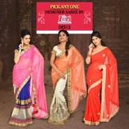 Pick Any One Designer Saree by Zuri (DES13)