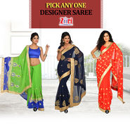 Pick Any One Designer Saree by Zuri (DES11)