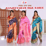 Pick Any One Kanjeevaram Silk Saree by Zuri (KSS11)