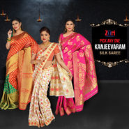 Pick Any One Kanjeevaram Silk Saree by Zuri (KSS13)