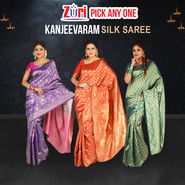 Pick Any One Kanjeevaram Silk Saree by Zuri (KSS14)