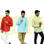 Pick Any 1 Linen Look Kurta for Men (K1L2)