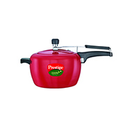 Prestige Apple Red Pressure Cooker - 5 Ltr (Induction Based)