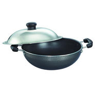 Prestige Non Stick Omega Select Plus Round Base Kadai 170 mm with SS Lid