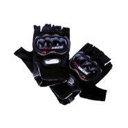 Pro Biker Gloves Half - Black