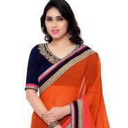 Indian Women Georgette Printed Saree -RA10608