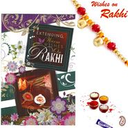 Rakhi Card with Message, Feelings & Rakhi