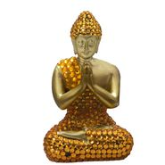 Beautiful Gold Finish Buddha Idol Showpiece-REF1550