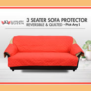 3 Seater Reversible Quilted Sofa Protector - Pick Any 1