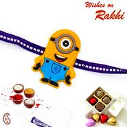 Lovely Yellow Minion Kids Rakhi