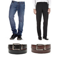 Royal son Mens Essential Accessories Combo With Denim Jeans & Trouser