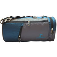 Donex Nylon Blue Grey Gym Bag -Rsc01389