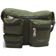 Donex Polyester Green Messenger Bag -Rsc01410