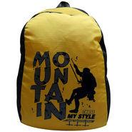 Donex Nylon Yellow & Grey Backpack -Rsc01494