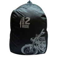 Donex Nylon Black & Grey Backpack -Rsc01499