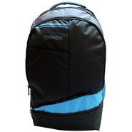 Donex Polyester Black & Blue Laptop Backpack -Rsc01513