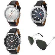 Combo of 3 Rico Sordi Analog Wrist Watches + 1 Aviator Sunglasses_573s4wsg